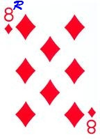 8 of diamonds reversed