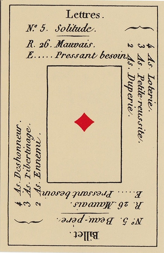 Ace of Diamonds Petit Etteilla