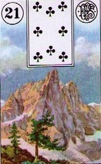 Lenormand Mountain Meaning
