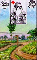 lenormand crossroad path